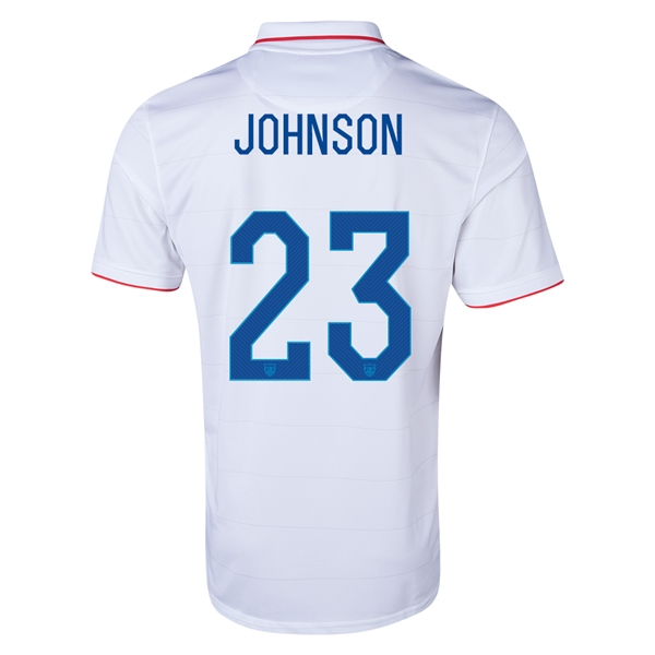 USA 2014 JOHNSON Home Soccer Jersey
