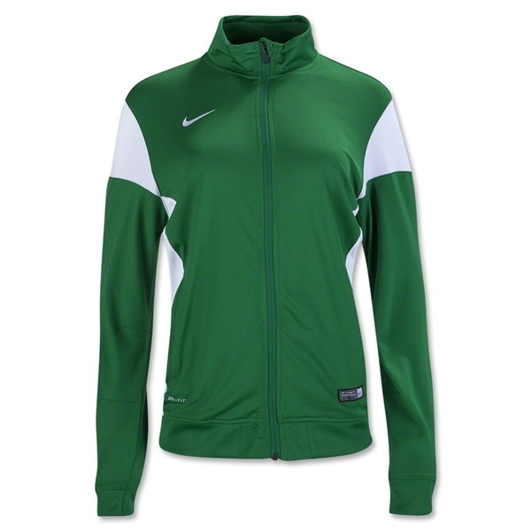 Nike Women's Academy 14 Sideline Knit Jacket (Green/Wht)