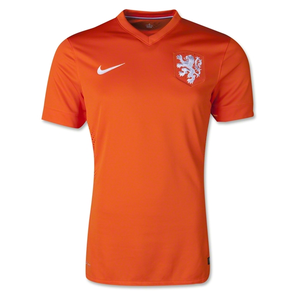 Netherlands 2014 Authentic Home Soccer Jersey