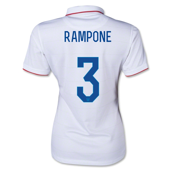 USA 2014 RAMPONE Women's Home Soccer Jersey