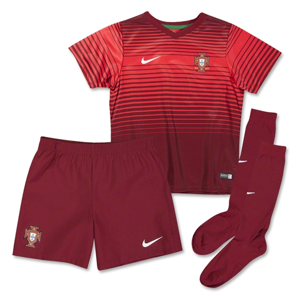 Portugal 14/15 Little Boys Home Soccer Kit