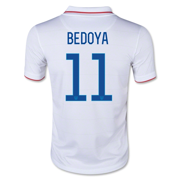USA 2014 BEDOYA Youth Home Soccer Jersey
