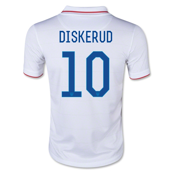 USA 2014 DISKERUD Youth Home Soccer Jersey
