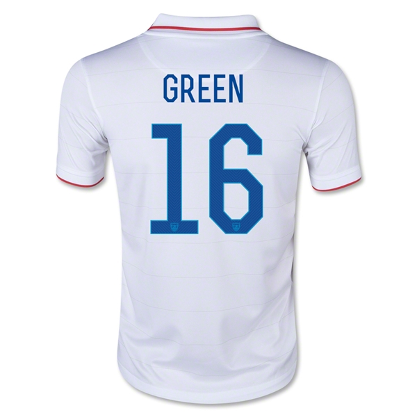 USA 2014 GREEN Youth Home Soccer Jersey