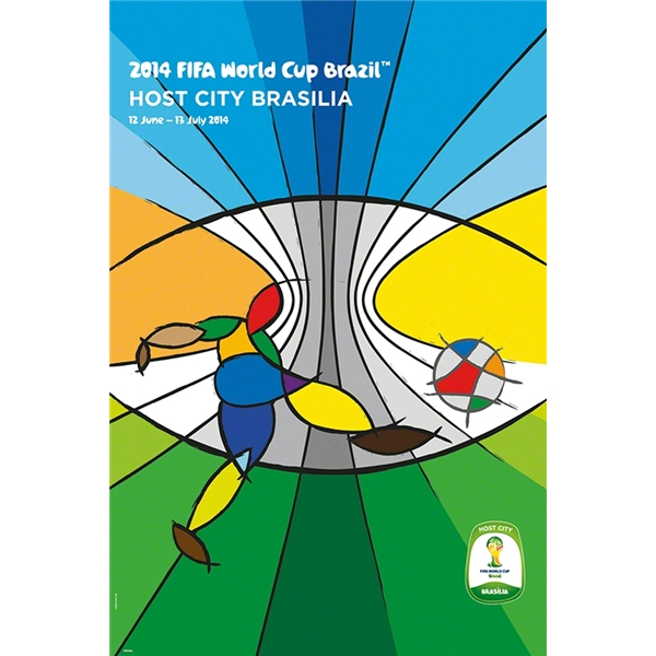 Brasilia 2014 FIFA World Cup Brazil(TM) Host City Poster