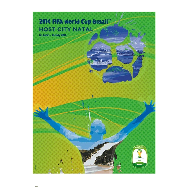 Natal 2014 FIFA World Cup Brazil(TM) Host City Poster