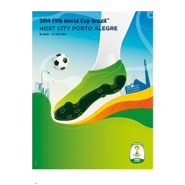 Porto Alegre 2014 FIFA World Cup Brazil(TM) Host City Poster