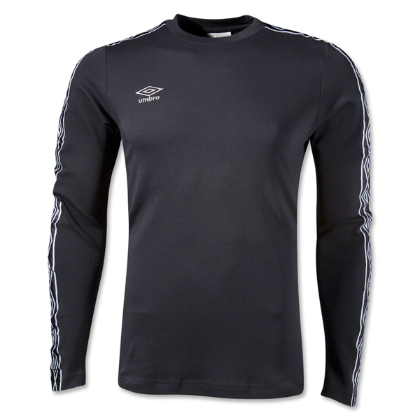 Umbro LS Ringer T-Shirt (Black)