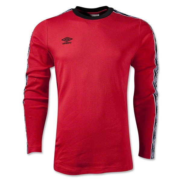 Umbro LS Ringer T-Shirt (Red)