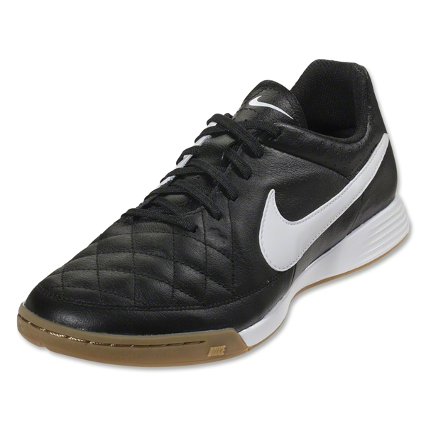 Nike Tiempo Genio Leather IC (Black/White)
