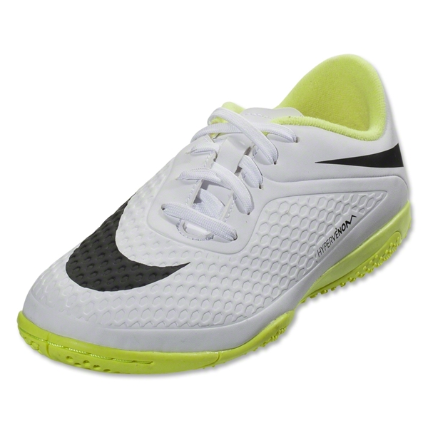 Nike Hypervenom Phelon IC KIDS Shoes (White/Black/Volt)