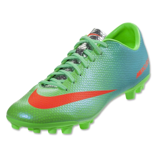 Nike Mercurial Veloce AG (Neo Lime/Metallic Silver/Polarized Blue/Total Crimson)