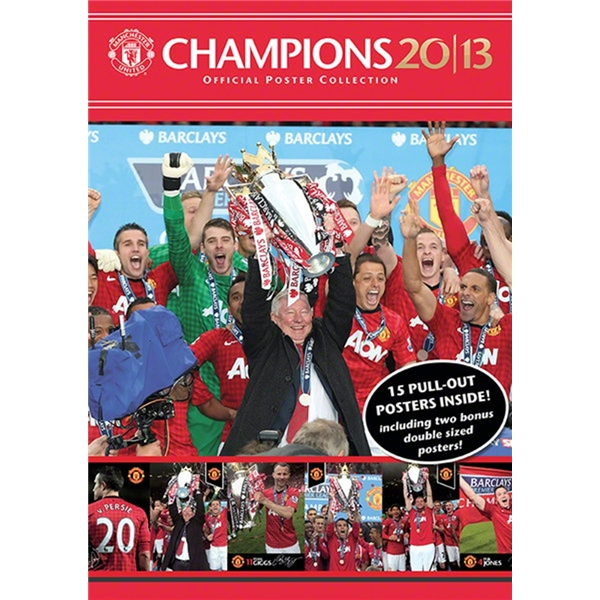 Manchester United 2013 Champions Poster Collection
