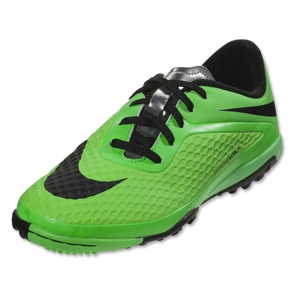 Nike Hypervenom Phelon TF KIDS Shoes (Neo Lime/Poison Green/Metallic Silver/Black)