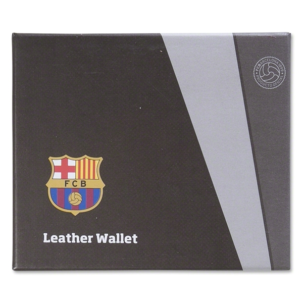 Barcelona Embossed Crest Leather Wallet