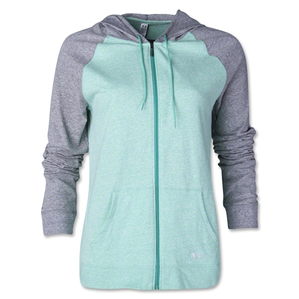 Under Armour Charged Cotton Legacy Full-Zip Hoody (Gray/Green)