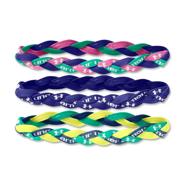 Under Armour -Pack Braided Mini Headbands 14 (Purple)