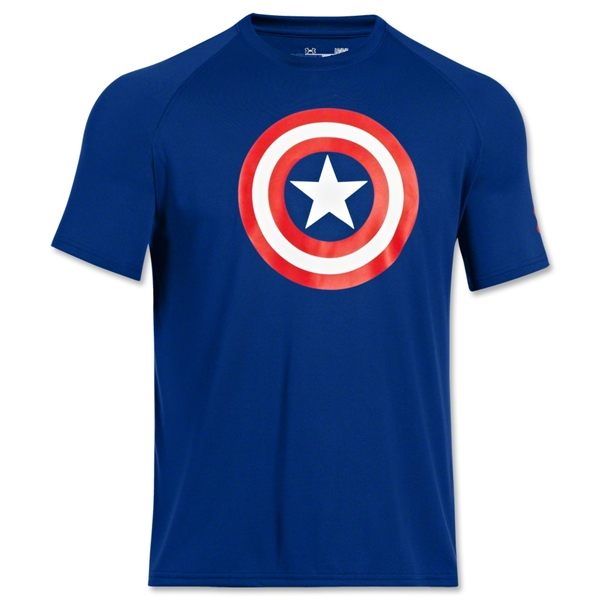 Under Armour Alter Ego Captain America Shirt (Royal)