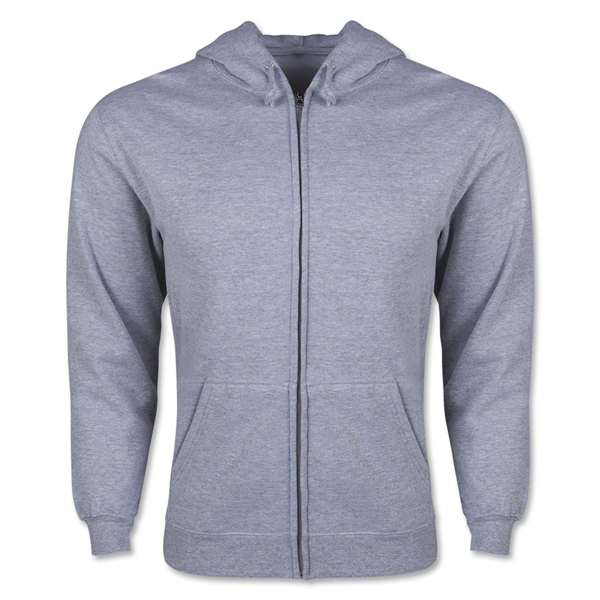 Full Zip Hooded Fleece (Gray)