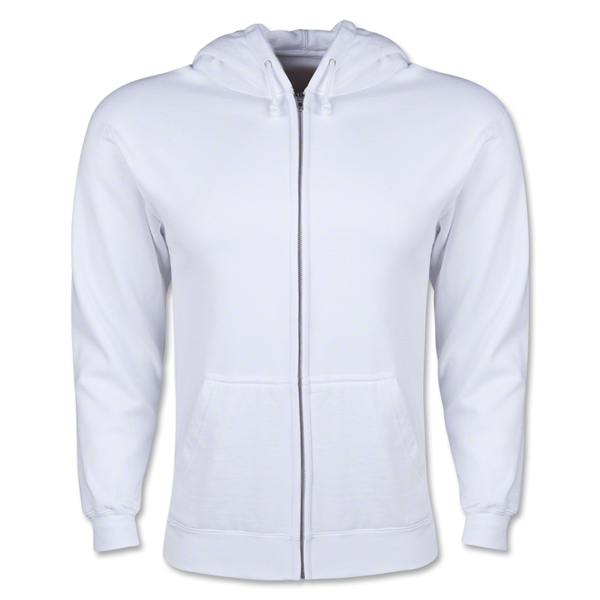 Full Zip Hooded Fleece (White)