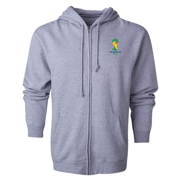 2014 FIFA World Cup Brazil(TM) Men's Official Emblem Full Zip Hoody (Grey)