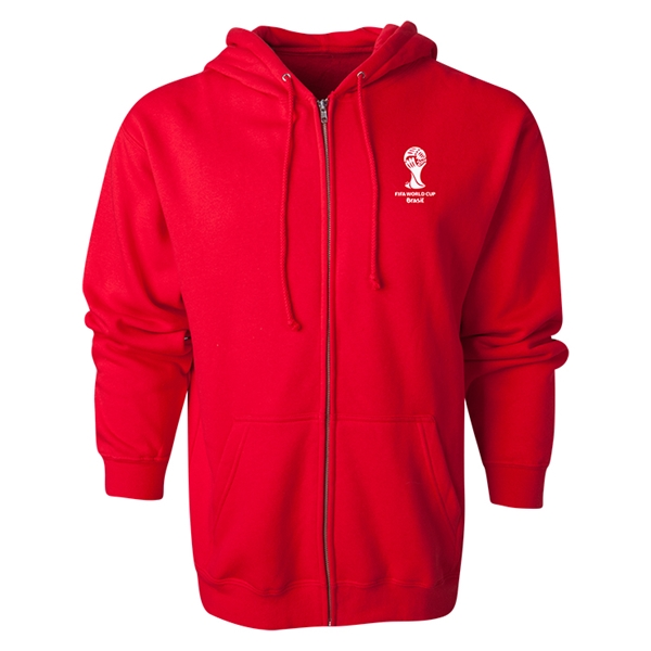 2014 FIFA World Cup Brazil(TM) Men's Official Emblem Full Zip Hoody (Red)
