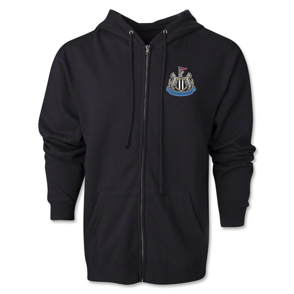 Newcastle United Distressed Full Zip Hooded Fleece (Black)