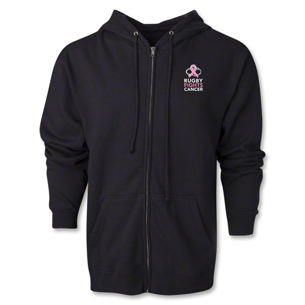 Rugby Fights Cancer Full-Zip Hooded Sweatshirt (Black)