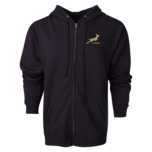 South Africa Springboks Full-Zip Hooded Fleece (Black)