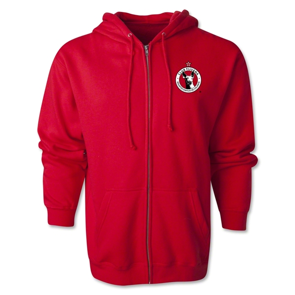 Xolos de Tijuana Full-Zip Hoody (Red)