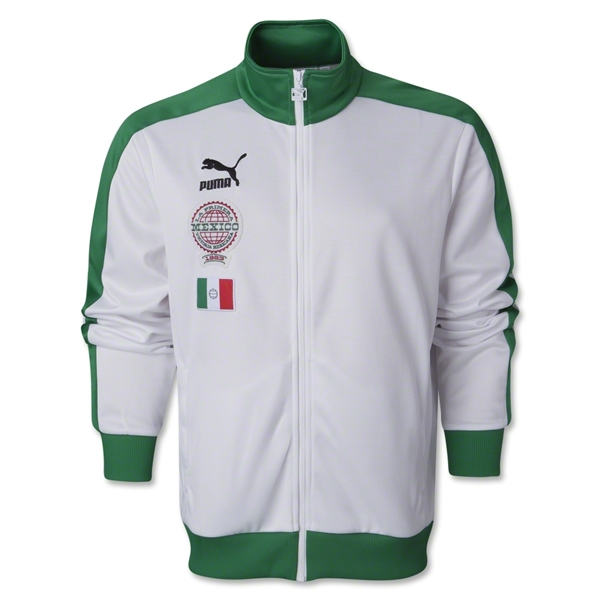 Mexico Archives T7 Track Jacket (White/Green)