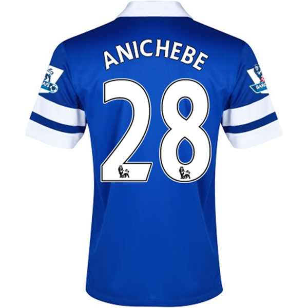 Everton 13/14 ANICHEBE Home Soccer Jersey
