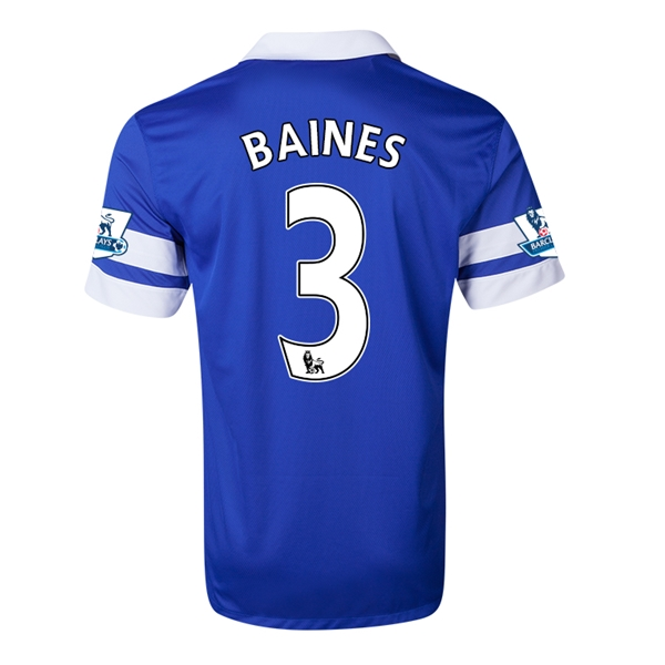 Everton 13/14 BAINES Home Soccer Jersey