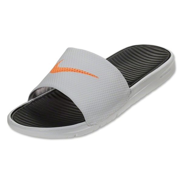 Nike Benassi Solarsoft Slide Sandal (Team Orange/Deep Royal Blue/White)