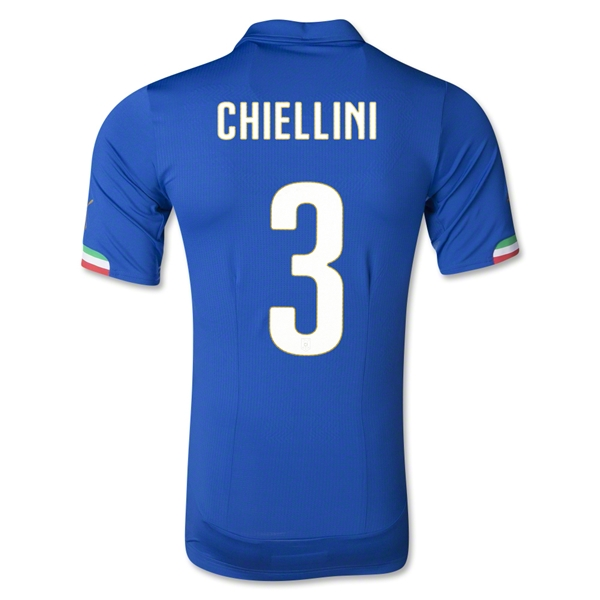 Italy 14/15 CHIELLINI Authentic Home Soccer Jersey