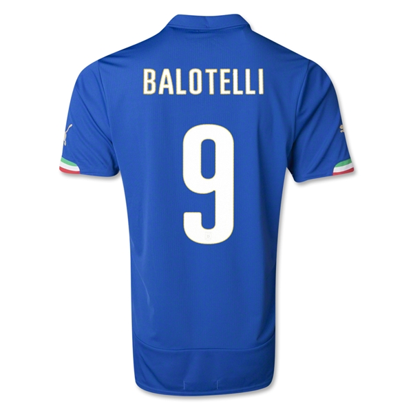 Italy 14/15 BALOTELLI Home Soccer Jersey