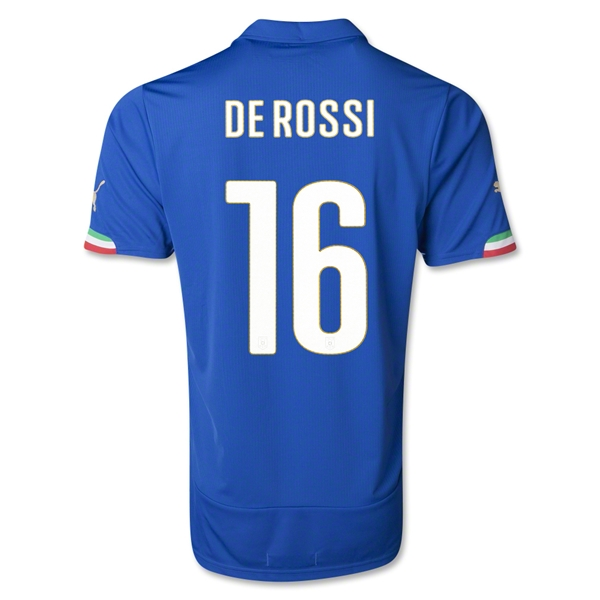 Italy 14/15 DE ROSSI Home Soccer Jersey