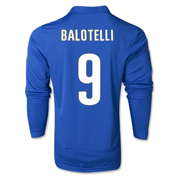 Italy 2014 BALOTELLI LS Home Soccer Jersey