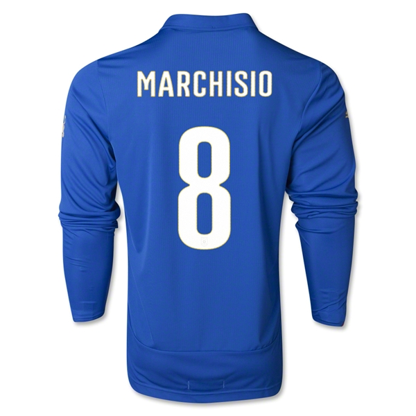 Italy 2014 MARCHISIO LS Home Soccer Jersey