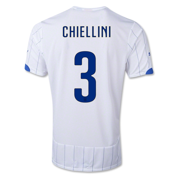 Italy 14/15 CHIELLINI Away Soccer Jersey