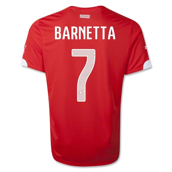 Switzerland 2014 BARNETTA Home Soccer Jersey