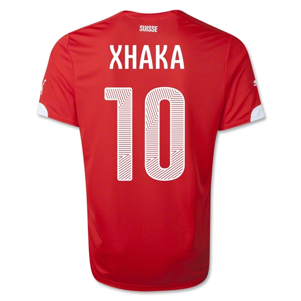 Switzerland 14/15 XHAKA Home Soccer Jersey