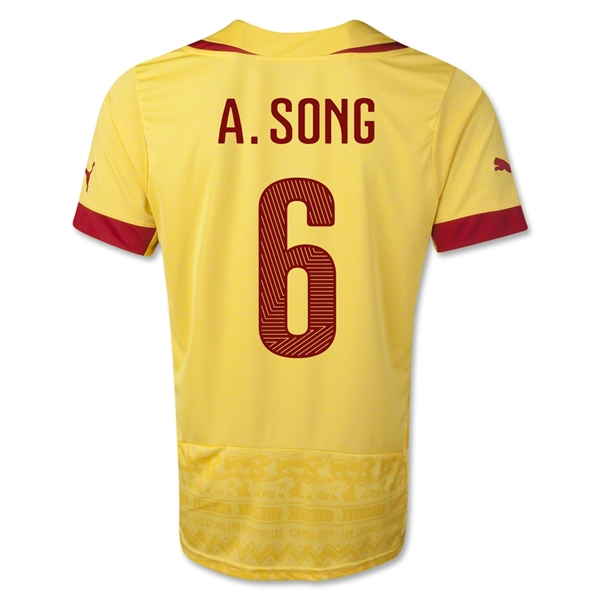 Cameroon 14/15 A. SONG Away Soccer Jersey
