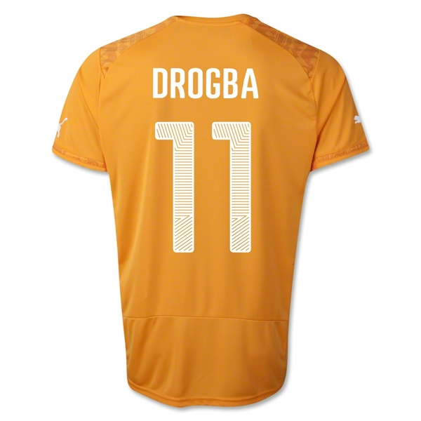 Cote d'Ivoire 2014 DROGBA Home Soccer Jersey