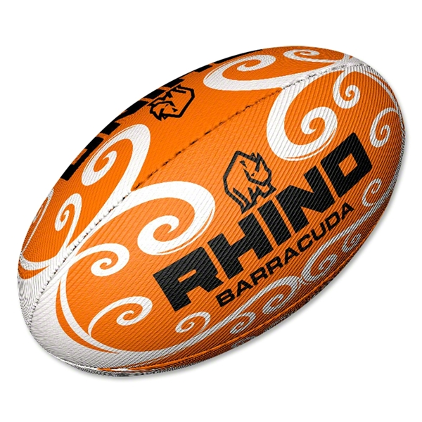 Rhino Orange Barracuda Beach Rugby Ball (size 4)