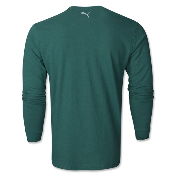 PUMA City Long Sleeve Blank T-Shirt (Dark Green)