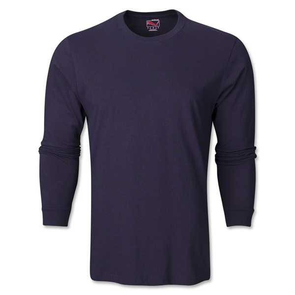 PUMA City Long Sleeve Blank T-Shirt (Navy)