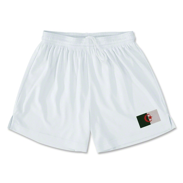Algeria Team Soccer Shorts (White)