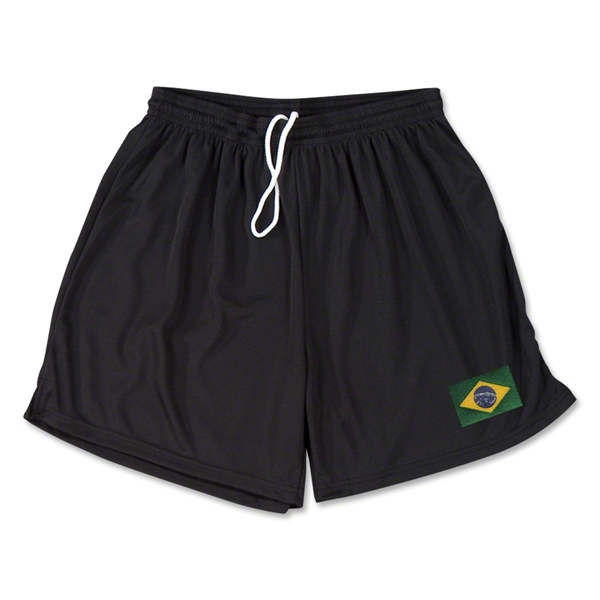 Brazil Team Soccer Shorts (Black)