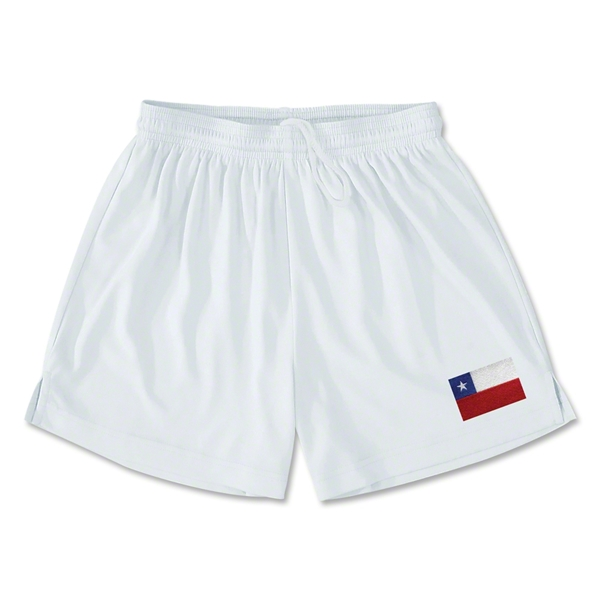 Chile Team Soccer Shorts (White)